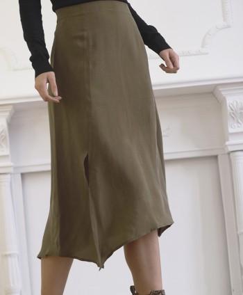 Olive Slip Skirt