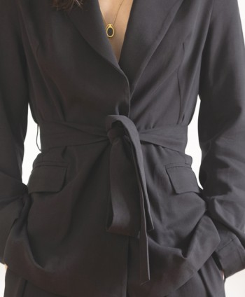 Black Tie Blazer Jacket