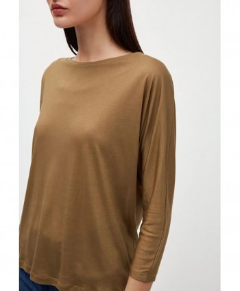 Jaady Khaki Tencel Top