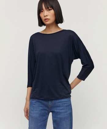 Jaady Tencel Top Navy