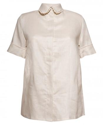 Caroline collar creme shirt