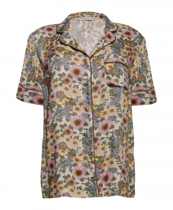 Rania flower short shirt